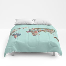Louis Armstrong Told Us So (teal) Comforters