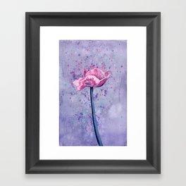 Lavender Floral Framed Art Print