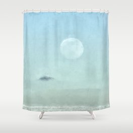 Pastel Winter Moon Shower Curtain