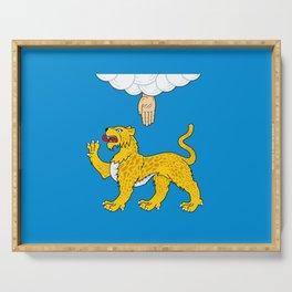 flag of Pskov Serving Tray