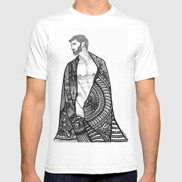 Robed male nude body T-shirt