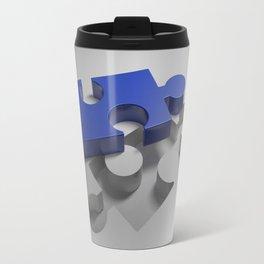 Blue puzzle near its hole Travel Mug