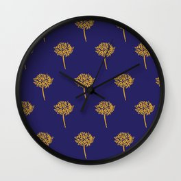 Navy dandelion Wall Clock