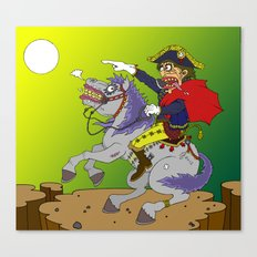 Napoleon goes rampage Canvas Print