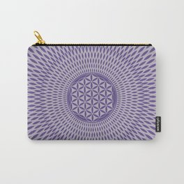 Flower of life Ultra violet on misty lilac Carry-All Pouch