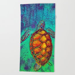 Swim in Eternal Seas Beach Towel