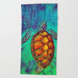 Swim in Eternal Seas Beach Towel