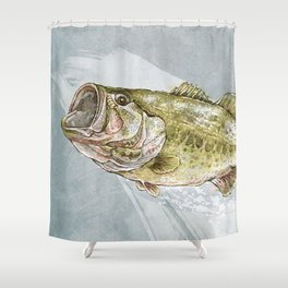 Magnificent Largemouth Bass Shower Curtain