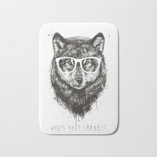 Who's your granny? (b&w) Bath Mat