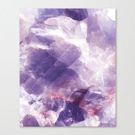 Amethyst gemstone Canvas Print