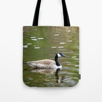 canada Tote Bags featuring Canada Goose by Christina Rollo