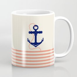 AFE Navy Anchor and Chain Coffee Mug