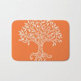 Tree of Life Orange Bath Mat