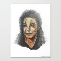 mike wrobel Canvas Prints featuring Mike by QIQI DRAWS