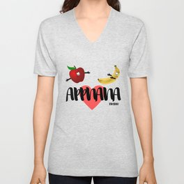 Apple Banana fruit fruit sweet vegan funny gift Unisex V-Neck