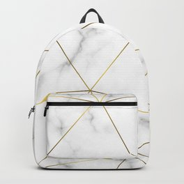 Marble Gold Backpack