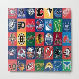 Hockey Logos Metal Print