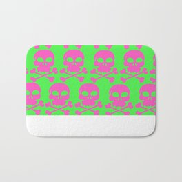 Skull Crazy- Watermelon Bath Mat