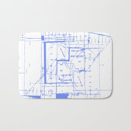 Blue print Bath Mat