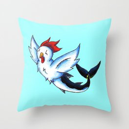 Chickenfish Throw Pillow