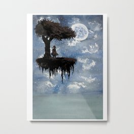 The Girl Among The Stars Metal Print