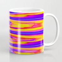 tie dye Mugs featuring Tie Dye Sky by Vikki Salmela