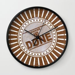Burlap : Verified and Done Wall Clock