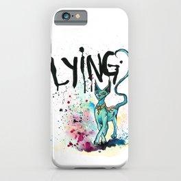 Lying Cat iPhone Case