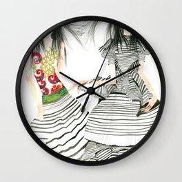 galina sokolova STRIPE ON Wall Clock