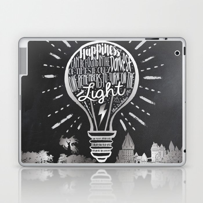 Happiness Can Be Found in the Darkest of Times Laptop & iPad Skin