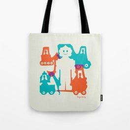 Friendlier Robots Tote Bag