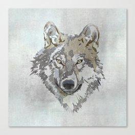 Wolf Head Illustration Canvas Print
