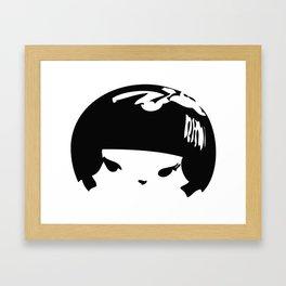 Kokeshi Head Logo Design Framed Art Print