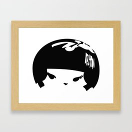 Kokeshi Head Logo Design Framed Art Print