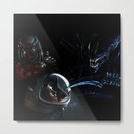Alien Art Poster Print  Metal Print