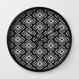Asian Flower 01 Wall Clock