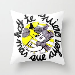 Hoy te quiero más que ayer Throw Pillow