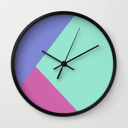 Roller Rink Color Block Wall Clock