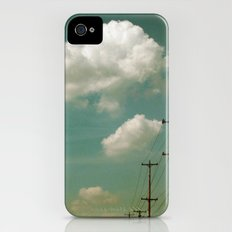 Electric Blue iPhone (4, 4s) Slim Case