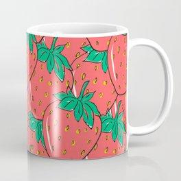 BRIGHT AND COLORFUL STRAWBERRY POP ART PATTERN Coffee Mug