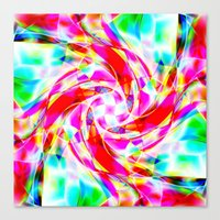 volleyball Canvas Prints featuring Abstract Volleyball by Krazee Kustom