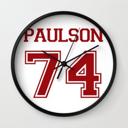 Sarah Paulson Varsity Wall Clock