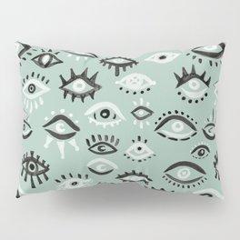 Mystic Eyes – Mint & Black Pillow Sham