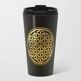 Golden Flower Of Life Travel Mug