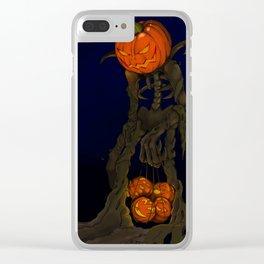 Pumpkin Monster Clear iPhone Case