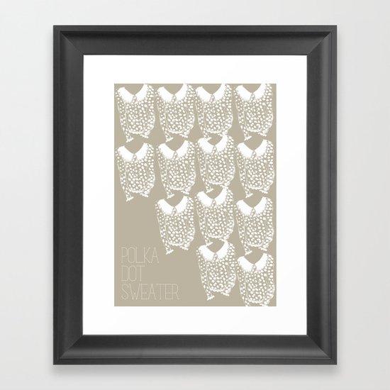 Polka Dot Sweater Framed Art Print