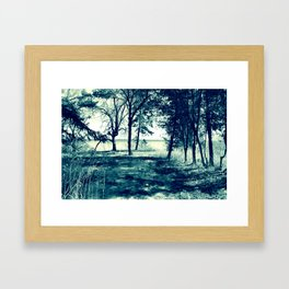 Lakeside: desaturated Framed Art Print