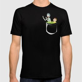 Middle Finger Space Portal Rick & Morty T-shirt