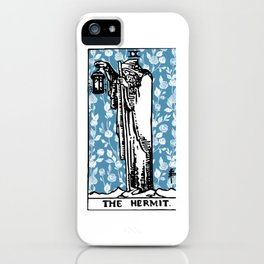 The Hermit - A Floral Tarot Print iPhone Case