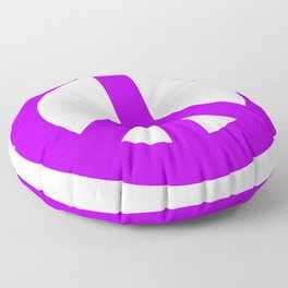 Purple Peace Sign, Power of Peace, Power of Love, Social Justice Warrior, Super Sharp PNG Floor Pillow
